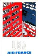 Air France U.S.A. - Reproduction De L'affiche De Raymond Pagès, 1971 - 1946-....: Ere Moderne