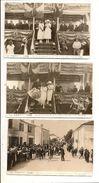 LE BREUIL MAGNÉ - 1923 - Série De 9 Cartes Photos - INAUGURATION MONUMENT Aux MORTS - Autres Communes