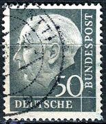 BRD - Michel 189 - OO Gestempelt (A) - 50Pf   Heuss I - [7] West-Duitsland