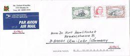 26834. Carta Aerea TROY (Mi) 1999. Fechador Royal Oak.  Contiene FOTO - Etats-Unis