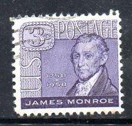 STATI UNITI 1958 , Yvert N.  641  (Un. 893)  Usato . Monroe - Gebruikt