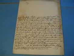 LETTRE AUTOGRAPHE SIGNEE D'ANTOINE-MARIE D'HOZIER 1763 GENEALOGISTE JUGE D'ARMES NOBLESSE HERALDIQUE LYON - Autógrafos