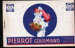 PIERROT GOURMAND - Carte Pub à Système ( Décalque Et Coloriage ) - Publicité