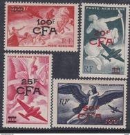 Réunion PA N° 45 / 48 X Série Mythologique, Les 4 Valeurs Surchargées CFA, Trace De Charnière Sinon TB - Neufs