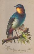 """Découpis Oiseau Sur Une Branche """" Bonheur Et Prospérité """" - Tiere"""