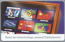 DE.- Telecom TELEFONKARTE. 12 DM. - Rettet Die Schmettelinge, Sammelt Telefonkarten! - Germany