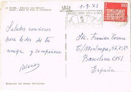 26837. Postal BASEL (Suisse) 1973. Flamme ZOO Basel. Rinoceronte - Rinocerontes