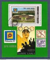 Corée Du Nord Bloc 1987 Oblitéré, Jeux Olympiques - Korea, North