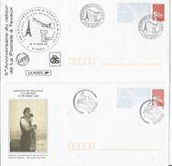 Lot De 2  / PRET A POSTER - Postal Stamped Stationery