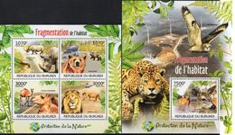 BURUNDI 2012 - Protection De La Nature, Lion, Ours, Rhino - 4 Val + BF Neufs // Mnh - Burundi