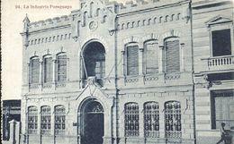 84106 PARAGUAY ASUNCION LA INDUSTRIA PARAGUAYA BUILDING CIRCULATED TO BRAZIL POSTAL POSTCARD - Paraguay