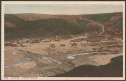 Tea Houses, Porthtowan, Cornwall, C.1920 - Treseder Postcard - England