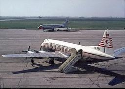 Aviation Postcard-461 TURKISH AIRLINES Viscount 794 - 1946-....: Moderne