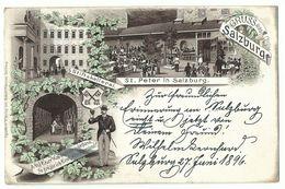 Salzburg Stiftskellerei St. Peter Litho 1896! - Salzburg Stadt