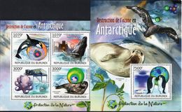 BURUNDI 2012 - Protection De La Nature, Destruction De L'ozone En Antarctique - 4 Val + BF Neufs // Mnh - Burundi