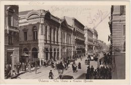 1933-Palermo Via Roma E Teatro Biondo Animata - Palermo