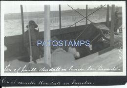 84110 PARAGUAY SAN BERNARDINO EN EL MUELLE KENDALL EN LANCHA SHIP POSTAL POSTCARD - Paraguay