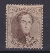 N° 14  B  (14.5 )  :  X  ( Gomme Charnière ) COB 110.00 - 1863-1864 Medallions (13/16)