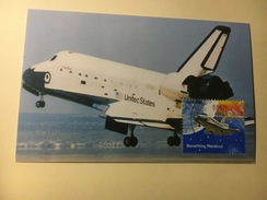 P4 - Espace Carte Maximum Columbia Returns To Earth - Raumfahrt