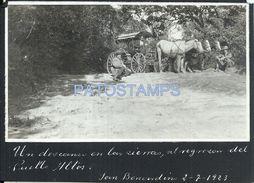 84113 PARAGUAY SAN BERNARDINO COSTUMES CART A HORSE DEL REGRESO DEL PUEBLO ALTOS AÑO 1923 POSTAL POSTCARD - Paraguay