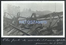 84114 PARAGUAY ASUNCION OTRA PARTE DE ESCOMBROS DEL MISMO DEPOSITO AÑO 1923 POSTAL POSTCARD - Paraguay