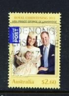 AUSTRALIA  -  2014  Royal Christening  $2.60  International Post  Sheet Stamp  Used As Scan - Oblitérés