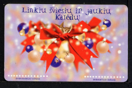 LITUANIE LITHUANIA 2000, NOEL / CHRISTMAS, Used Magnetic Telephone Card /  Utilisée. R943 - Lithuania