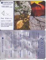 ROMANIA - Flowers, Calendar 2007, Exp.date 01/01/09, Dummy Telecard(no Chip, No CN) - Romania