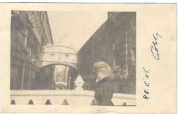 1906- Cartolina Foto Venezia Viaggiata Affrancata 5c.Floreale In Arrivo Annullo Tondo Riquadrato Di Scaldasole Pavia - Venezia