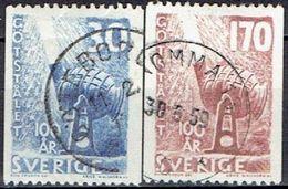 SWEDEN  #  STAMPS FROM 1958 STAMPWORLD 443-44 - Sweden