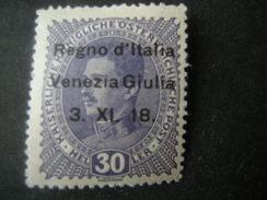 VENEZIA GIULIA, 1918, Austria, Sass N. 9, 30 H, Soprast., MLH*, TTB, OCCASIONE - 8. Occupazione 1a Guerra