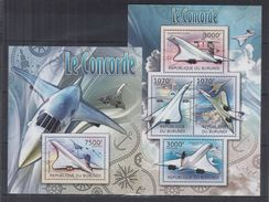 BURUNDI 2012 - Transports, Avions, Concorde - 4 Val + BF Neufs // Mnh - Burundi