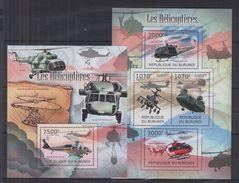 BURUNDI 2012 - Transports, Avions, Hélicoptères - 4 Val + BF Neufs // Mnh - Burundi