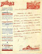 """Courses Et Spectacles Acrobatiques De Motos Et Autos, équipe """"Les BOSTON'S"""", 1947 - Racing"""