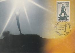 Carte   Hommage  à   Jean  MOULIN   SAINT  MARTIN  DE  CRAU   1993 - Guerre Mondiale (Seconde)