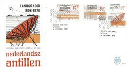 Netherlands Antilles 1978 Curacao Telex Morse Telephone Communication Satellite FDC Cover - Télécom