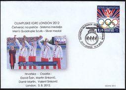 Croatia Zagreb 2012 / Olympic Games London / Rowing Men's Quadruple Sculls / Croatian Silver Medal - Sommer 2012: London