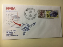 P16 - Espace Pioneer 10 Leaving Solar System Mountain View 13.06.1983 - Etats-Unis