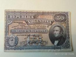 50 Centavos 1890 - Argentine