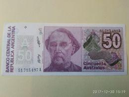 50 Australes 1986-89 - Argentina