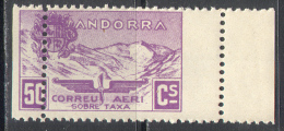 3153 ✅ Aviation Planes Mountains 1932 Andorra Spanish 1v MNH ** Unissued Error - Nuovi