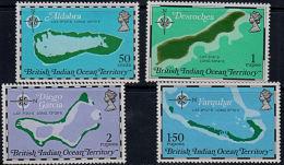 A5861 BRITISH INDIAN OCEAN TERRITORIES (BIOT) 1975, SG 81-4  Maps,  MNH - British Indian Ocean Territory (BIOT)