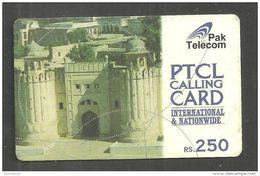 USED PHONECARD PAKISTAN PTCL RS 250 - Pakistan