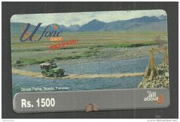 USED PHONECARD PAKISTAN UFONE RS 1500 - Pakistan