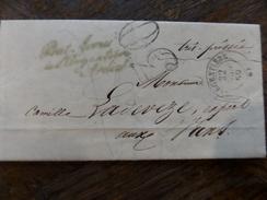30.12.17-(2)-LAC De  L'Argentiere (6) Ardeche,cursive A Voir!! Rare De 1859 - Postmark Collection (Covers)