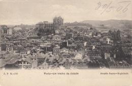 PORTO-UM Trecho Da Cidade (Portugal), Gel.1906, Selt.Frankierung - Porto