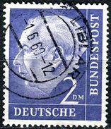 BRD - Michel 195 - OO Gestempelt (D) - 2DM   Heuss I - [7] West-Duitsland
