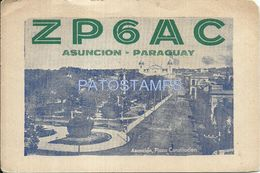 84142 PARAGUAY ASUNCION PLAZA CONSTITUCION & RADIO Q.R.A RAMON ESCOBAR NO POSTAL TYPE POSTCARD - Paraguay