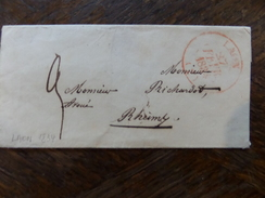 30.12.17-(2)-LSC De  Laon En Rouge Pour Reims De 1834 - Postmark Collection (Covers)