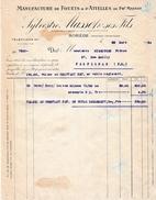 1934 - SOREDE (66) - Manufacture De FOUETS & D'ATTELLES De Ph. Massot - Maison Sylvestre MASSOT & Ses Fils - Documents Historiques